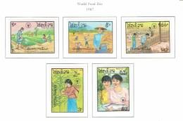 Laos MNH  1987  World Food Day - Laos