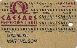 Caesars Casino Corvdon, IN Slot Card - 1-800-WITH-IT Phone# - Text Indented For Punch Hole - Casino Cards