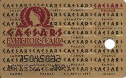 Caesars Palace Casino Las Vegas, NV Slot Card - Cameo Figure Over Mag Stripe - Casino Cards