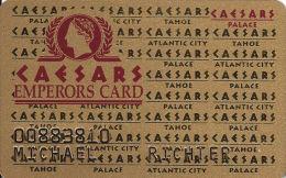 Caesars Palace Casino Las Vegas, NV Slot Card - 4th Line Reverse Table Games - Casino Cards