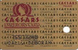 Caesars Palace Casino Las Vegas, NV Slot Card - Table Games, Race & Sports Book - 2 Phone#s - Casino Cards