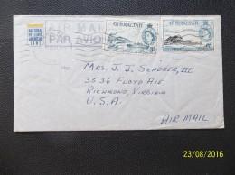Gibraltar: 1955 Air Cover To USA (#ME5)