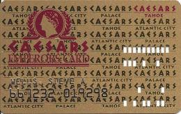 Caesars Casino Lake Tahoe, NV Slot Card - 8 Line Pattern - DLR CP Over Mag Stripe - Casino Cards