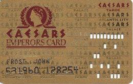 Caesars Casino Lake Tahoe, NV Slot Card - 8 Line Pattern - No Text Over Mag Stripe - Casino Cards