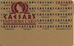 Caesars Casino Lake Tahoe, NV Slot Card - 5 Line Pattern - Cpi 2006124 Over Mag Stripe - BLANK - Casino Cards
