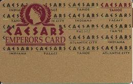 Caesars Casino Lake Tahoe, NV Slot Card - 5 Line Pattern - No Text Over Mag Stripe - BLANK - Casino Cards