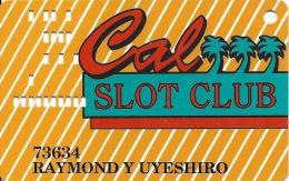 California Casino Las Vegas, NV - Slot Card - Black Box & Faraday On Back - Casino Cards