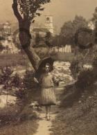 LA PIU ROMANTICA GARESSIO (CN) CUNEO GIRL UMBRELLA WORK OF ART PHOTO CARTOLINA Original Ca1900 POSTCARD CPA AK (W4_3119) - Cuneo