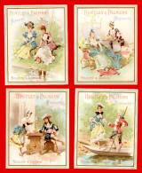 Biscuits Huntley & Palmers, Lot De 6 Jolies Chromos, Scènes De Genre, Personnages En Costume, Voir Scans Pour Détail - Confiserie & Biscuits