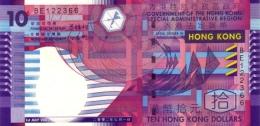 HONG KONG 10 DOLLARS 2002 P-400 UNC  [ HK719a ] - Hong Kong