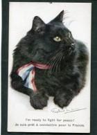 CPA - CHAT - Illustration - Je Suis Prêt à Combattre Pour La France - Katten