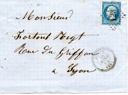G.C.123 AOUSTE (25) Sur N°22-cachet 22-devant De Lettre,le 18/3/64. - Marcophilie (Lettres)