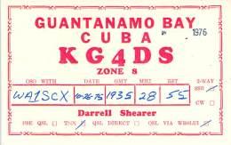 Amateur Radio QSL Card - KG4DS - Guantanamo Bay, Cuba - 1975 On 28MHz - 2 Scans - Radio Amateur