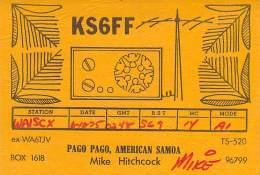Amateur Radio QSL Card - KS6FF - Pago Pago, American Samoa - 1975 - Radio Amateur
