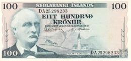ICELAND 100 KRONUR L. 1961 (1974) P-44 UNC SIGN. J. NORDAL & G. HJARTARSON [ IS803(12) ] - Iceland