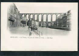 CPA - MORLAIX - Le Viaduc, Vue Prise De L'Hôtel De Ville, Animé  (dos Non Divisé) - Morlaix