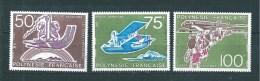 Polynésie  PA De 1974   N°89/91  Neufs  Tres Petite Trace De Charnière (cote 72€) - Airmail