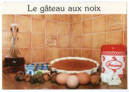 CPM   RECETTE  DE MAMAN YVETTE   LE GATEAU AUX NOIX - Recettes (cuisine)
