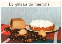 CPM   RECETTE  DE MAMAN YVETTE   LE GATEAU DE MARRONS - Recettes (cuisine)