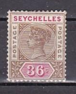 SEYCHELLES - N°Y&T - 24 - 36c  Brun Et Carmin  - Victoria  - (N) - Seychelles (1976-...)