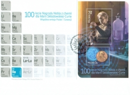 Poland 2011, 100th Anniversary Of The Chemistry Nobel Prize For Marie Curie, Joint With Sweeden, FDC - Nobelpreisträger
