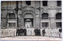 CPA 56 LORIENT Militaria Caserne Apprentis Fusiliers Marins Magasins Compagnie Des Indes Tampon Gramophone - Lorient