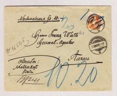 Heimat Schweiz AG BADEN-OBERSTADT 27.12.1899 Orts NN  Brief  Ankunft-O Fahrp Dekart - 1862-1881 Helvetia Assise (dentelés)