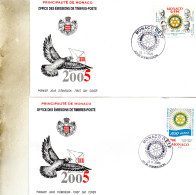 FDC MONACO   ROTARY    TIMBRE   N° YVERT ET TELLIER   279/0   2005 - FDC