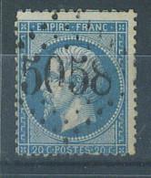 """VEND BEAU TIMBRE DE FRANCE N°22 , G.C.:5058 : """"RELIZANE - ORAN"""" !!!! - Algérie (1924-1962)"""