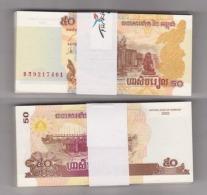 AC - CAMBODIA 50 RIELS 50 PIECES 1 UNCIRCULATED - Cambodia