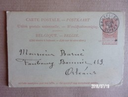 Entier Postal - Bruxelles 1900 - Stamped Stationery