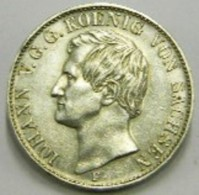 TALLERO 1858  F - SASSONIA -   ARGENTO - Taler & Doppeltaler