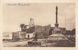 """CPA - Le Mont Carmel - Monument Du Chili à La B. Vierge Du Carmel - Phare Et Palais Dit """" Abballah Pacha """" - Israel"""