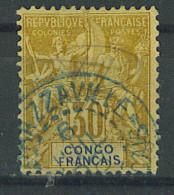 "VEND BEAU TIMBRE DU CONGO N°20 , CACHET BLEU ""BRAZZAVILLE"" !!!! - French Congo (1891-1960)"