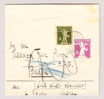 Heimat Schweiz AG SPREITENBACH 8.1.1932 Auf Streiband GS 5Rp Tellknabe Violet Und 5Rp Grün Zusatz - Schweiz