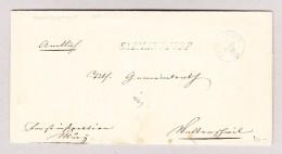 Heimat Schweiz AG SARMENSTORF Langstempel 23.3.1856 Fahrwangen Blau Auf Amtsbrief - 1854-1862 Helvetia (Non-dentelés)