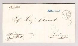 Heimat Schweiz AG WINDISCH Langstempel Blau 5.5.1866 Brugg Auf Brief - 1862-1881 Helvetia Assise (dentelés)