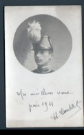 CARTE PHOTO DE MILITAIRE, St CYRIEN, 1911 - Personnages