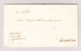Heimat Schweiz AG WIldegg Langstempel Auf Amtsbrief Nach Lenzburg - 1862-1881 Helvetia Assise (dentelés)