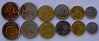 ETHIOPIA ETIOPIA SERIE 6 MONETE CON BIMETALLICA  1 BIRR + 50-25-10-5-1 CENTS FDC - Etiopia