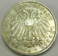3 MARCHI 1911 - HANSESTADT LUBECK - IMPERO TEDESCO -DEUTSCHE REICH - 2, 3 & 5 Mark Argent