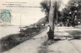 4434. CPA 33 LORMONT. LES BORDS DE LA GARONNE ET AVENUE DE BORDEAUX - France
