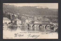 DF / 25 DOUBS / PONT-DE-ROIDE / LE PONT ET LES ROCHES / CIRCULÉE EN 1904 - France