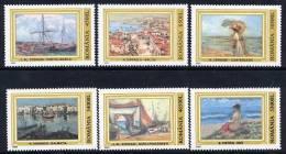 ROMANIA 2003 Marine Paintings Set MNH / **.  Michel 5701-06 - 1948-.... Republics