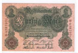 ALLEMAGNE - 50 MARK 21/04/1910 - SUPERBE - [ 2] 1871-1918 : Duitse Rijk