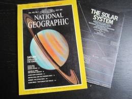 NATIONAL GEOGRAPHIC Vol. 160, N°1, 1981 :  Saturn - Costa Rica (avec Carte : Système Solaire) - Géographie