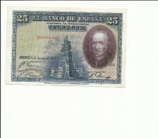 BILLETE 25 PESETAS 1928 - [ 1] …-1931 : Eerste Biljeten (Banco De España)
