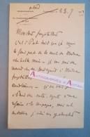 L.A.S 1902 Général LYAUTEY - Egypte Port SAID - Madagascar - Freystatter Freystaetter (?) Lettre Autographe Maréchal LAS - Autographes