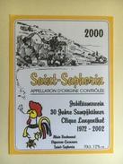 1271 - Suisse Vaud Saint-Saphorin 2000 Jubiläumswein 30 Jahre Sumpfhühner Clique Langenthal 1972-2002 - Autres