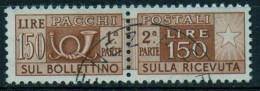 PIA - ITA - Specializzazione : 1957 : Francobollo Per Pacchi Postali £ 150 - (SAS 93  - CAR 69 ) - Variétés Et Curiosités